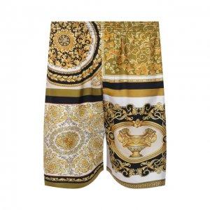 Шелковые шорты Versace. Цвет: разноцветный