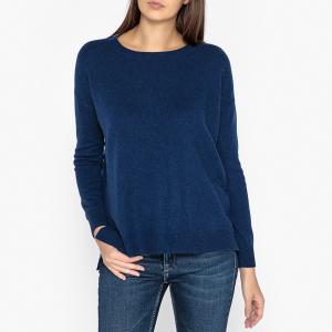 Пуловер кашемировый с круглым вырезом LA BRAND BOUTIQUE COLLECTION. Цвет: темно-синий