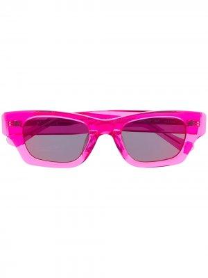 Солнцезащитные очки в прямоугольной оправе AMBUSH. Цвет: розовый