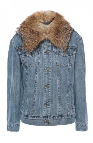 Куртка джинсовая Michael Kors. Цвет: синий
