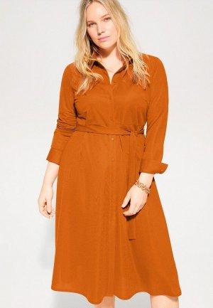 Платье Violeta by Mango - PARIS. Цвет: оранжевый
