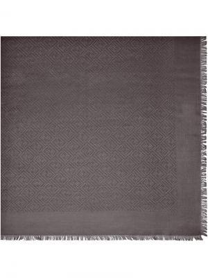 Шаль с необработанным краями Fendi. Цвет: серый