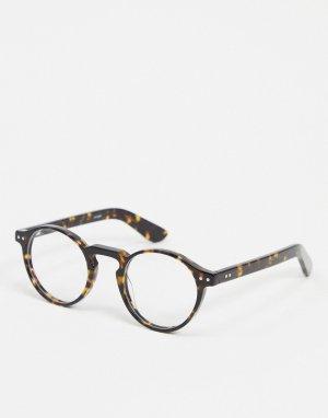 Круглые очки в черепаховой оправе -Коричневый Spitfire
