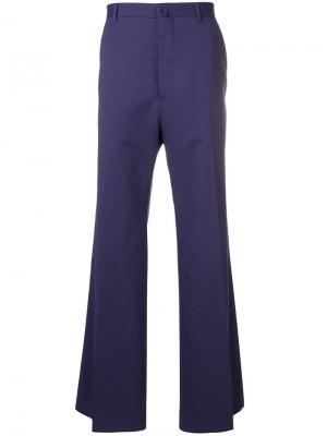 Широкие классические брюки Lanvin. Цвет: синий