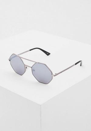 Очки солнцезащитные McQ Alexander McQueen MQ0139S002. Цвет: серебряный