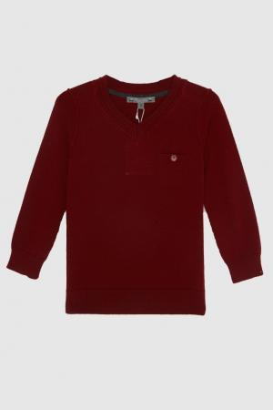 Пуловер Bonpoint. Цвет: бордовый