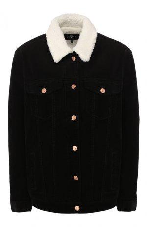 Куртка 7 For All Mankind. Цвет: черный