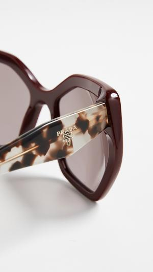 Oversized Geometric Glasses Prada