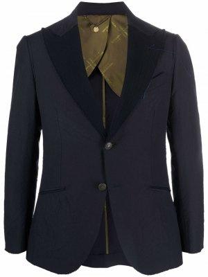 Пиджак с жатым эффектом Maurizio Miri. Цвет: синий