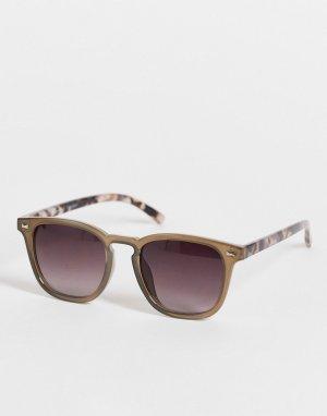 Серые квадратные солнцезащитные очки в стиле унисекс -Серый AJ Morgan