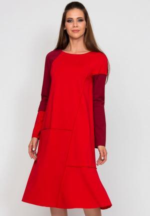 Платье D.VA MP002XW1GLOA. Цвет: красный