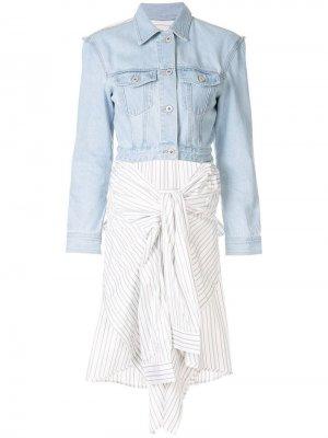 Джинсовая куртка-рубашка Ground Zero. Цвет: синий