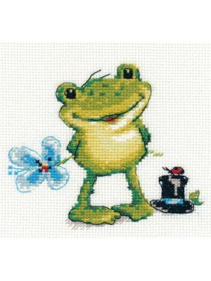 Набор для вышивания Ква-а 12х11 см Алиса. Цвет: зеленый, светло-голубой, светло-зеленый