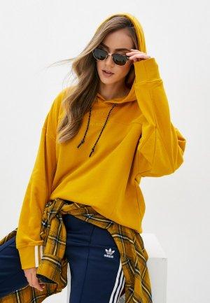 Худи adidas Originals HOODIE. Цвет: желтый