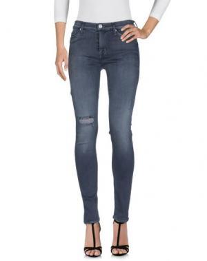 Джинсовые брюки HUDSON. Цвет: свинцово-серый