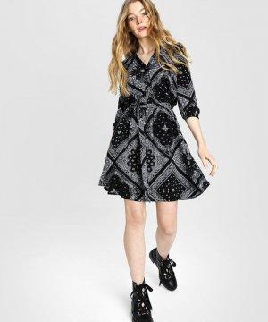 Платье с принтом «бандана» O`Stin. Цвет: черный