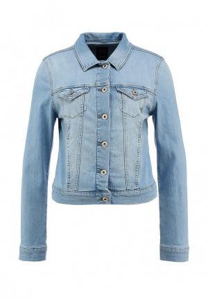 Куртка джинсовая Mavi MA008EWENO26. Цвет: голубой