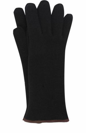 Кашемировые вязаные перчатки Svevo. Цвет: черный