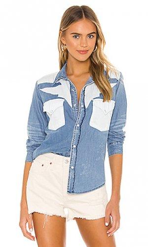 Рубашка teagan NSF. Цвет: синий