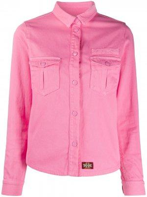 Джинсовая куртка узкого кроя Marc Jacobs. Цвет: розовый