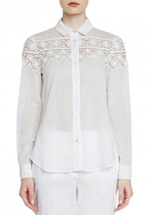 Блуза BLUMARINE. Цвет: белый