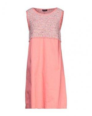 Короткое платье ANNECLAIRE. Цвет: коралловый