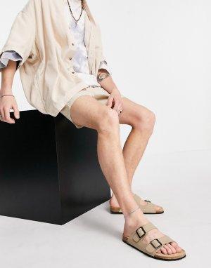 Светло-бежевые сандалии -Светло-бежевый ASOS DESIGN