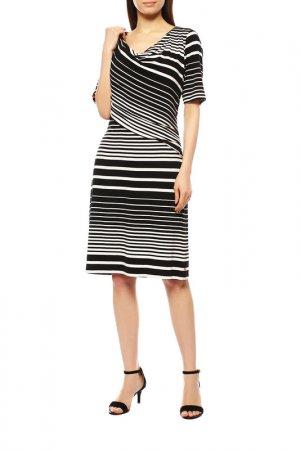 Платье Apanage. Цвет: чёрно-белый, полоска