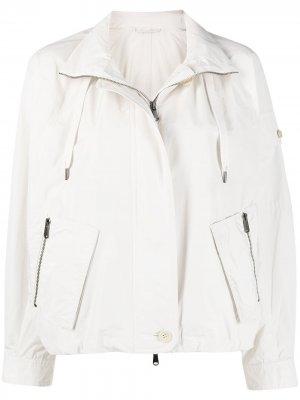 Куртка-бомбер с воротником-воронкой Brunello Cucinelli. Цвет: нейтральные цвета