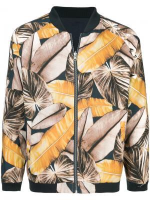 Куртка-бомбер с принтом The Upside. Цвет: разноцветный