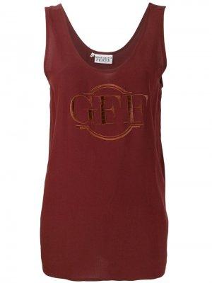 Топ с вышитым логотипом Gianfranco Ferré Pre-Owned. Цвет: коричневый