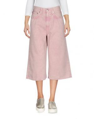 Джинсовые брюки-капри (+) PEOPLE. Цвет: розовый