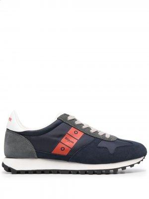 Кроссовки с логотипом Blauer. Цвет: синий