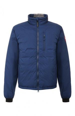 Пуховая куртка Lodge Canada Goose. Цвет: синий