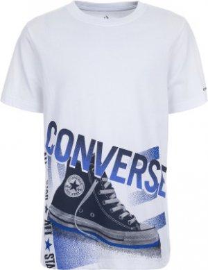 Футболка для мальчиков Chuck, размер 140 Converse. Цвет: белый