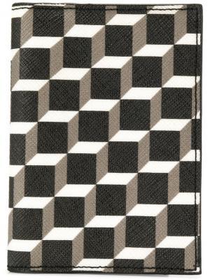 Кошелек с геометрическим узором Pierre Hardy. Цвет: черный