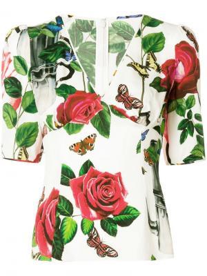 Топ с рисунком Кофеварки Dolce & Gabbana. Цвет: белый