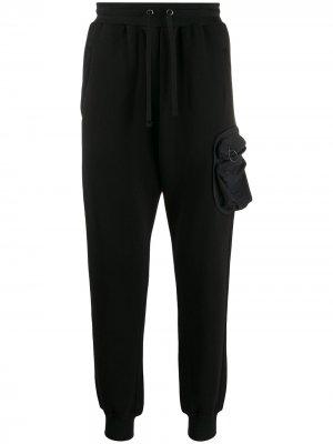 Спортивные брюки с накладным карманом Damir Doma. Цвет: черный