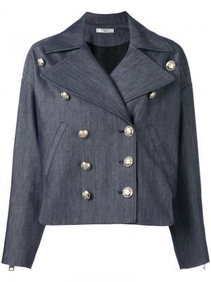 Джинсовая куртка в стиле милитари Lanvin. Цвет: синий