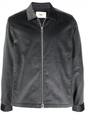 Бархатная куртка Signal Folk. Цвет: серый