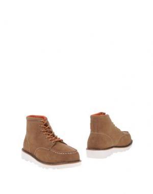 Полусапоги и высокие ботинки DUDE. Цвет: верблюжий