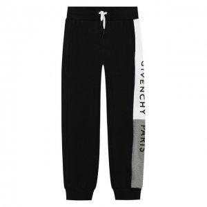 Хлопковые джоггеры Givenchy. Цвет: чёрный