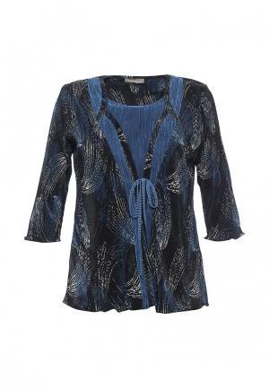 Блуза Bassini BA069EWRTJ79. Цвет: синий