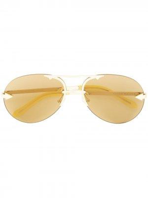 Солнцезащитные очки Love Hangover Karen Walker. Цвет: золотистый