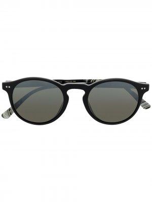 Солнцезащитные очки Mission District в круглой оправе Etnia Barcelona. Цвет: черный
