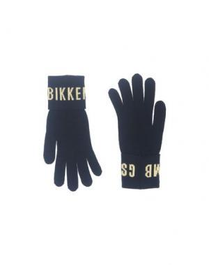 Перчатки BIKKEMBERGS. Цвет: темно-синий