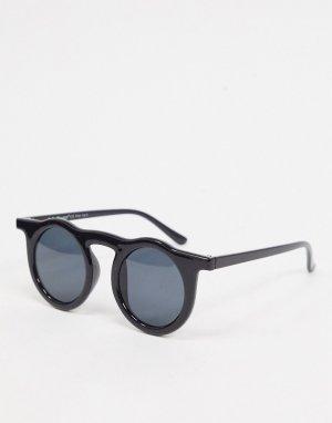 Черные круглые солнцезащитные очки -Черный цвет AJ Morgan