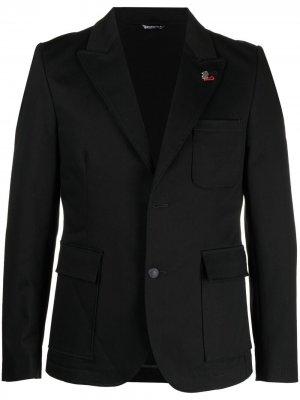 Пиджак строгого кроя Daniele Alessandrini. Цвет: черный