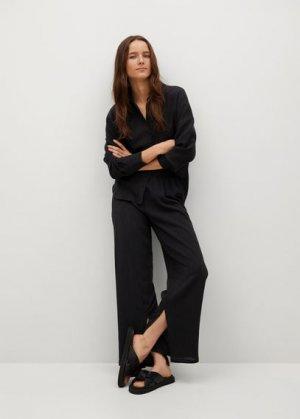 Прямые брюки из лиоцелла - Felipe Mango. Цвет: черный