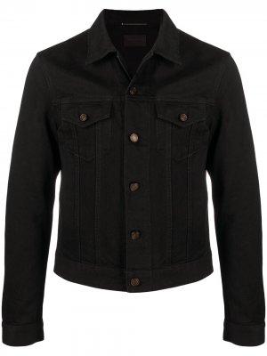 Джинсовая куртка-рубашка Saint Laurent. Цвет: черный